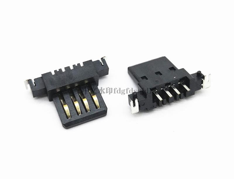 USB 2.0 AF 沉板胶芯带定位柱