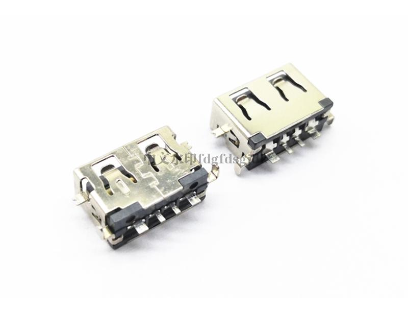 USB 2.0 AF 短体沉板L=8.5 下沉1.9 大电流