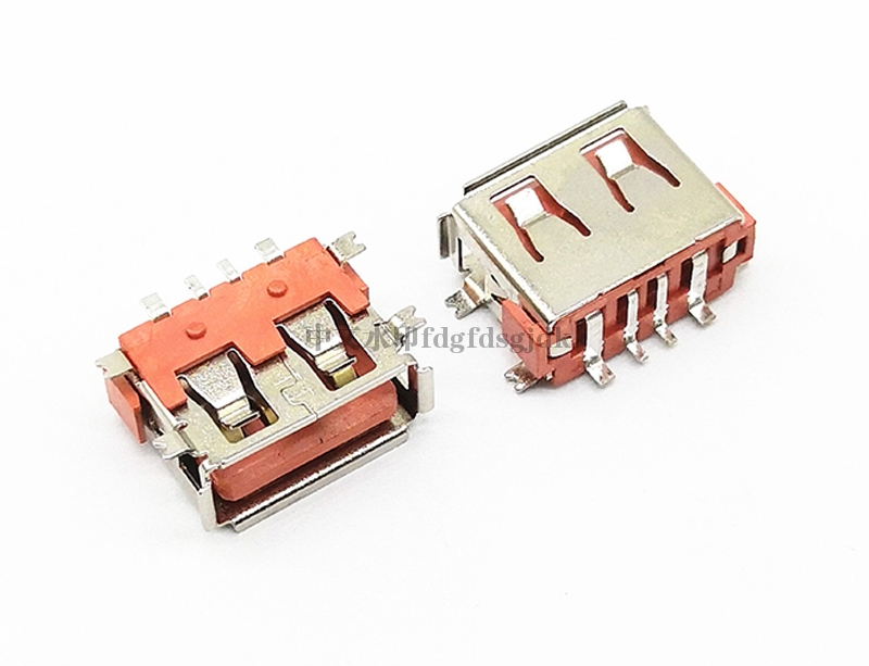 USB 2.0 AF 短体全贴L=10.0 H=6.3 大电流