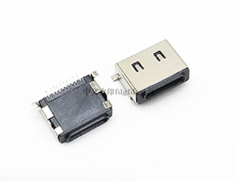 USB 苹果母座 10Pin 前插后贴 Moding