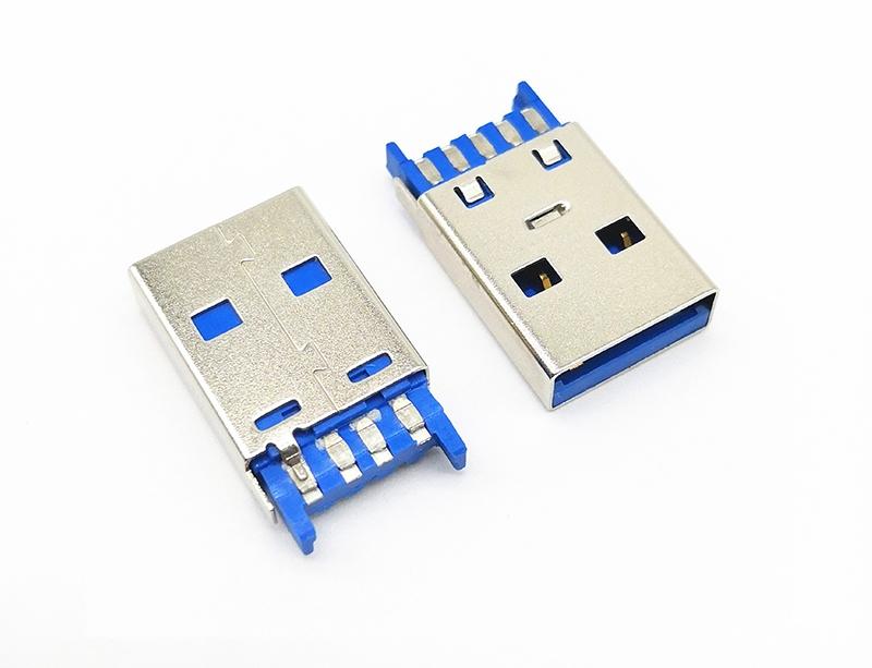 USB 3.0 AM 焊线第四根端子短路 接地线 自动焊 加锡