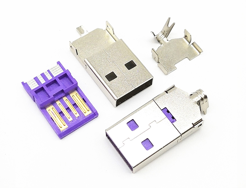USB 2.0 AM 华为三件式大电流款