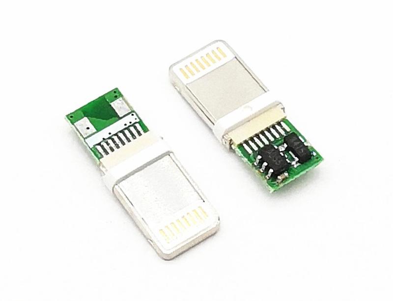 0289 iPhone 8P公头 焊线带PCB板17.5 不锈钢