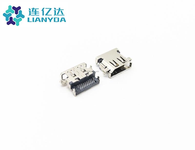 HDMI AF 19P 反向沉板 DIP 板上2.78