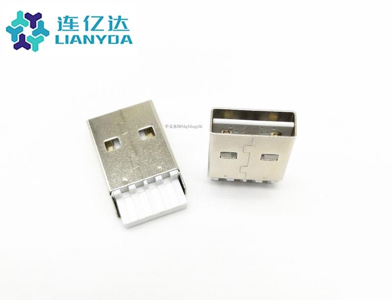 USB 2.0 AM 焊线式 L=19.35双面插