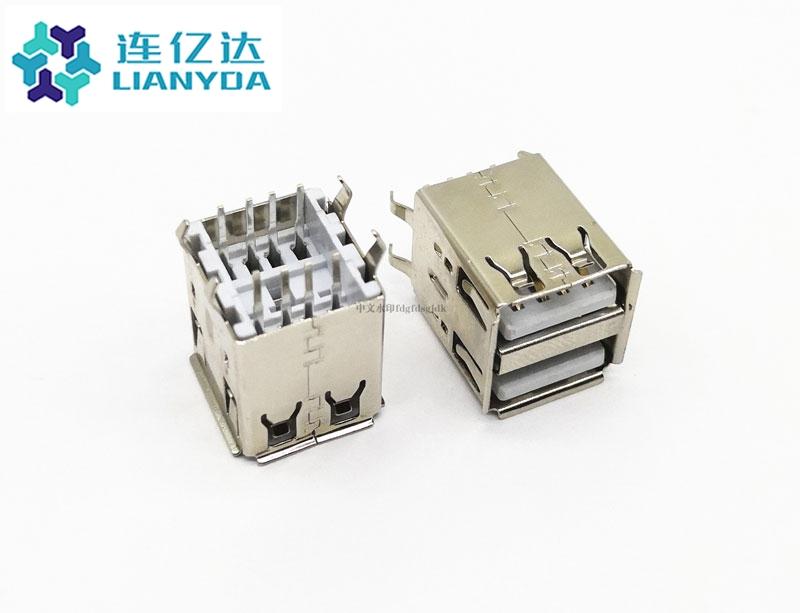 USB 2.0 AF 双层直插 L=17.0