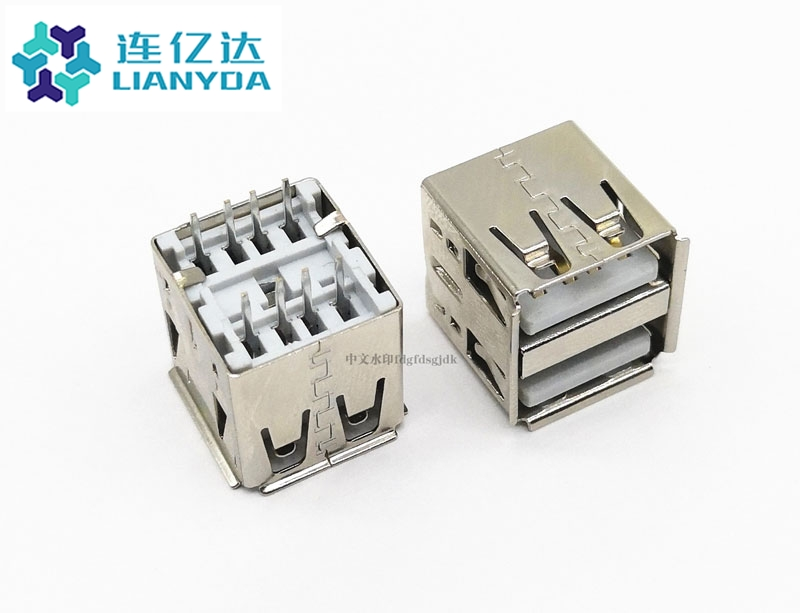 USB 2.0 AF 双层直插 L=14.2