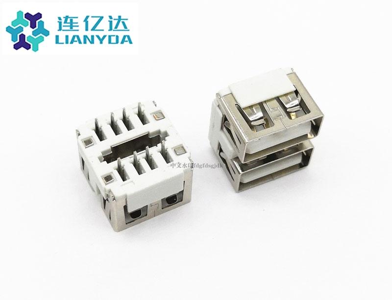 USB 2.0 AF 双层直插 L=10.0 LED款