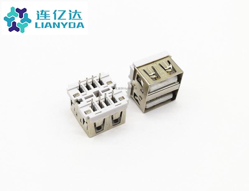 USB 2.0 AF 双层直插 L=10.0