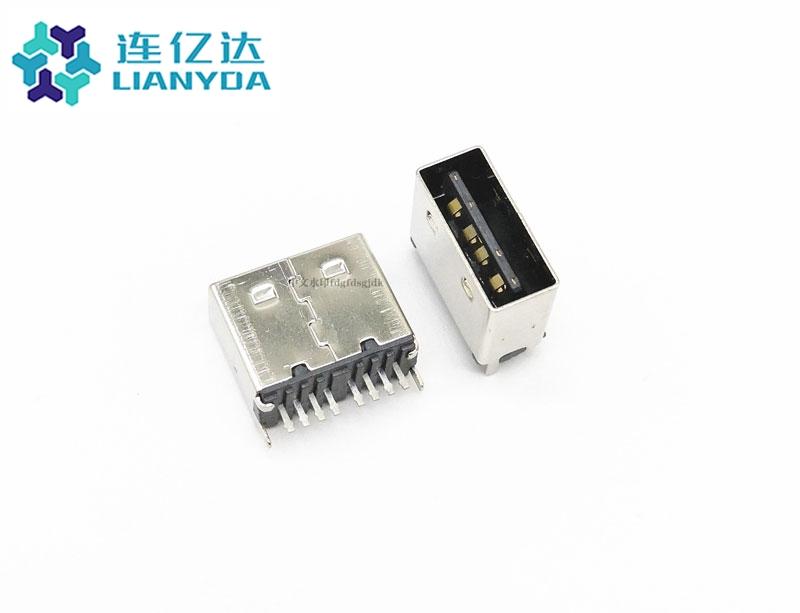 USB 2.0 AF 单排直插  双面插C款
