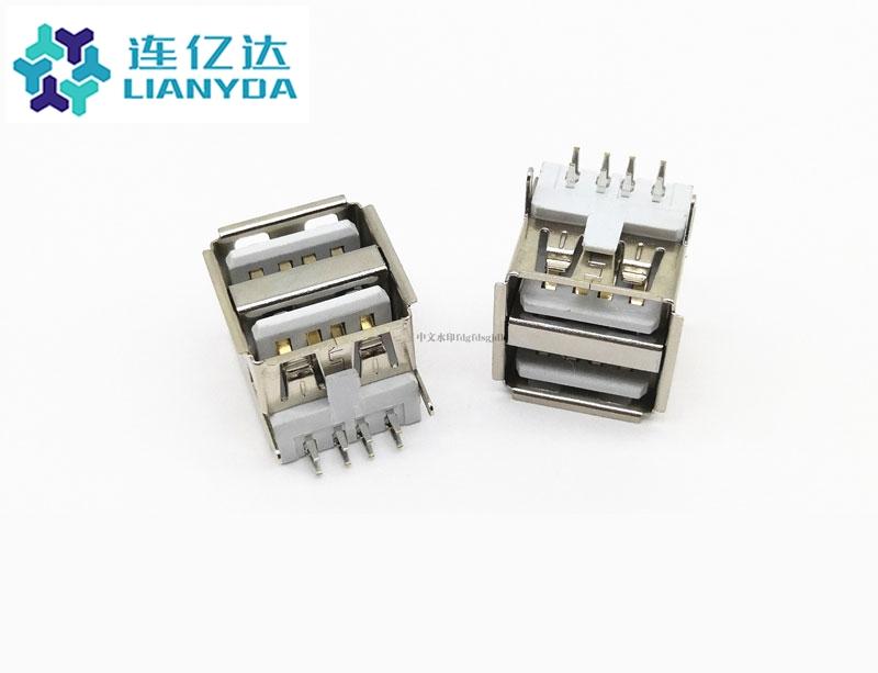 USB 2.0 AF 双层90° L=11.5
