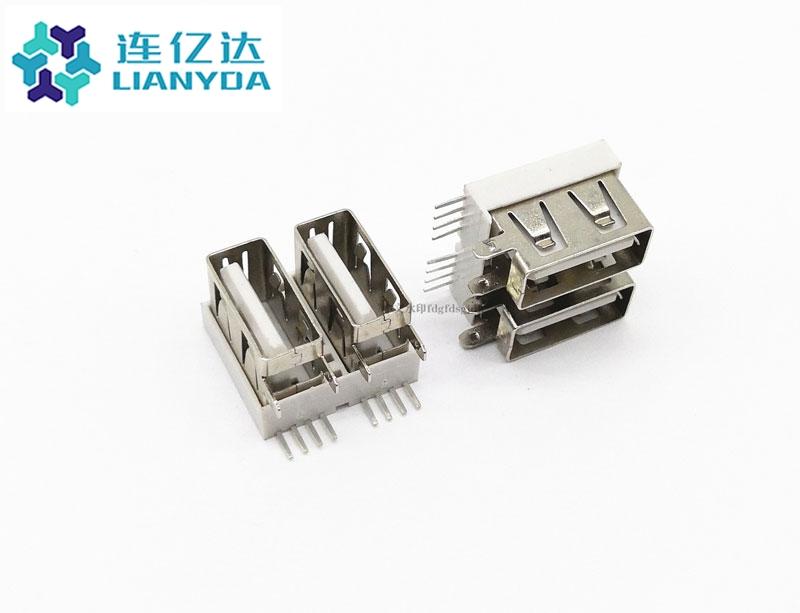 USB 2.0 AF 双层侧插