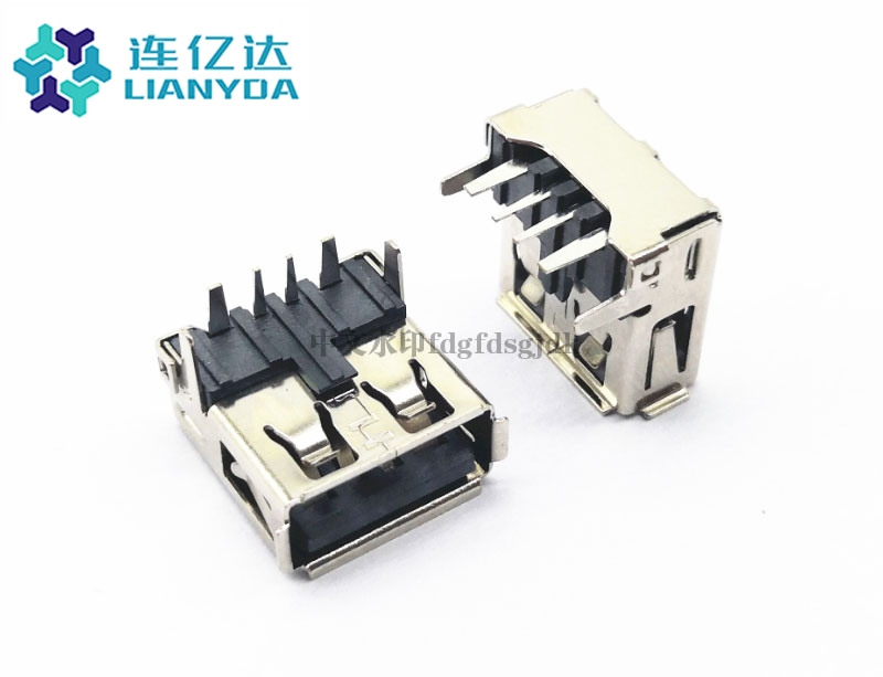 USB 2.0 AF 90°度 大电流