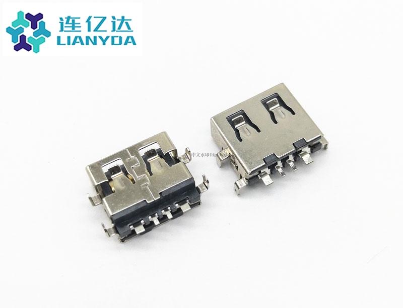 USB 2.0 AF 短体沉板L=10.0 下沉1.9 大电流