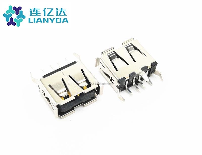 USB 2.0 AF  直插系列 L=10.5 三支脚