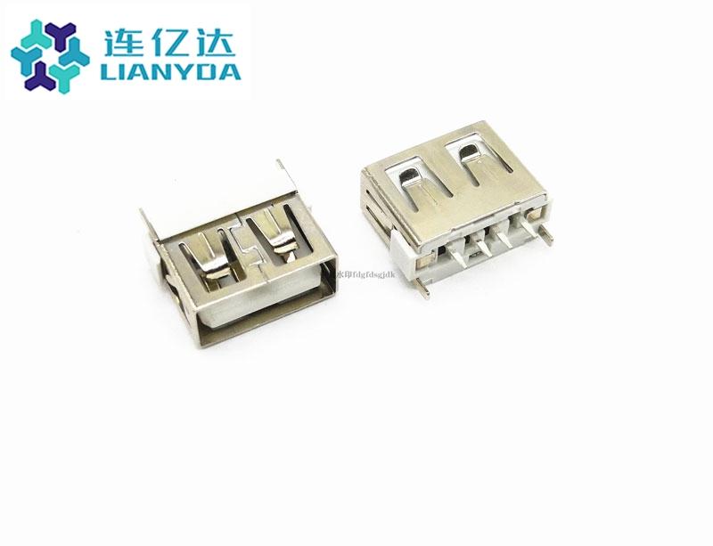 USB 2.0 AF  短体直插L=10.0 边插