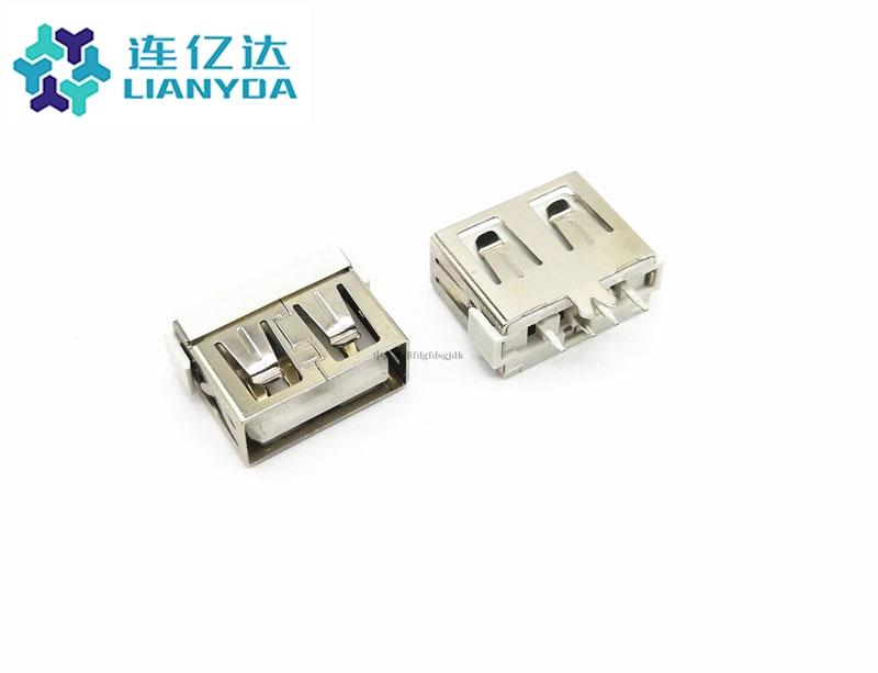 USB 2.0 AF  短体直插L=10.0 大鱼叉