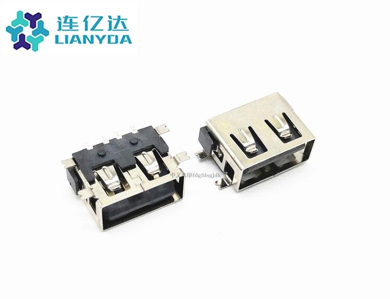 USB 2.0 AF 短体全贴L=10.0 H=6.8