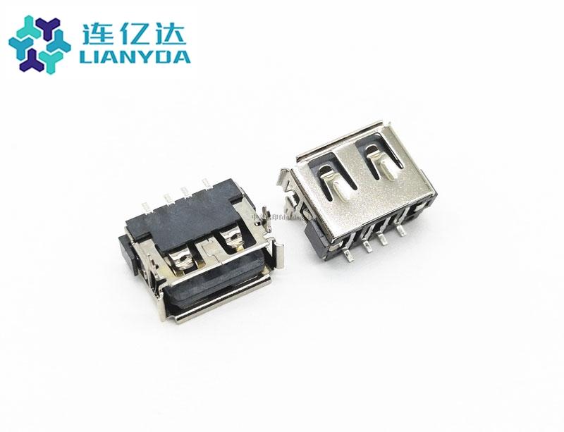 USB 2.0 AF 短体全贴L=10.0 H=6.3