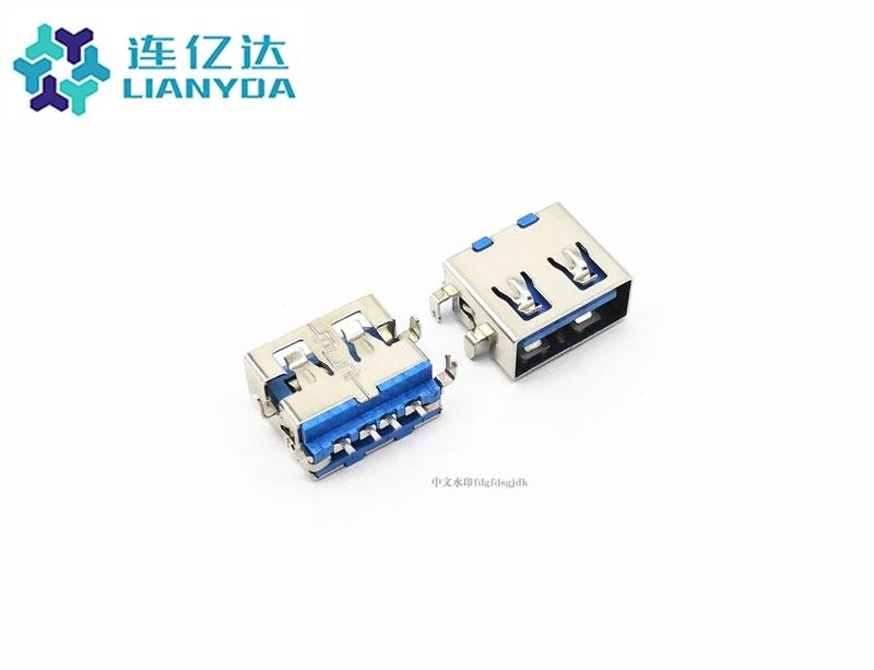USB 2.0 AF 短体沉板L=10.0 下沉1.9