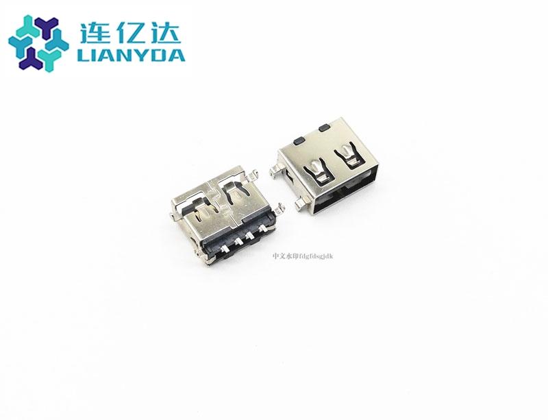 USB 2.0 AF 短体沉板L=10.0 下沉1.1