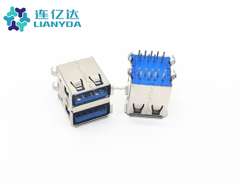 USB 3.0 AF 双层90°