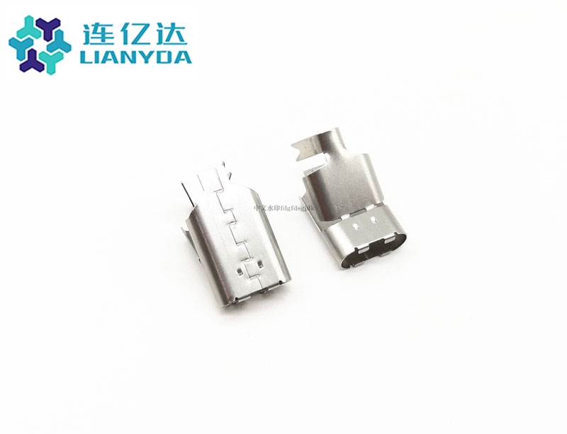 ZC1-H204Y05 USB C TYPE 一体式铆压后壳L=16MM